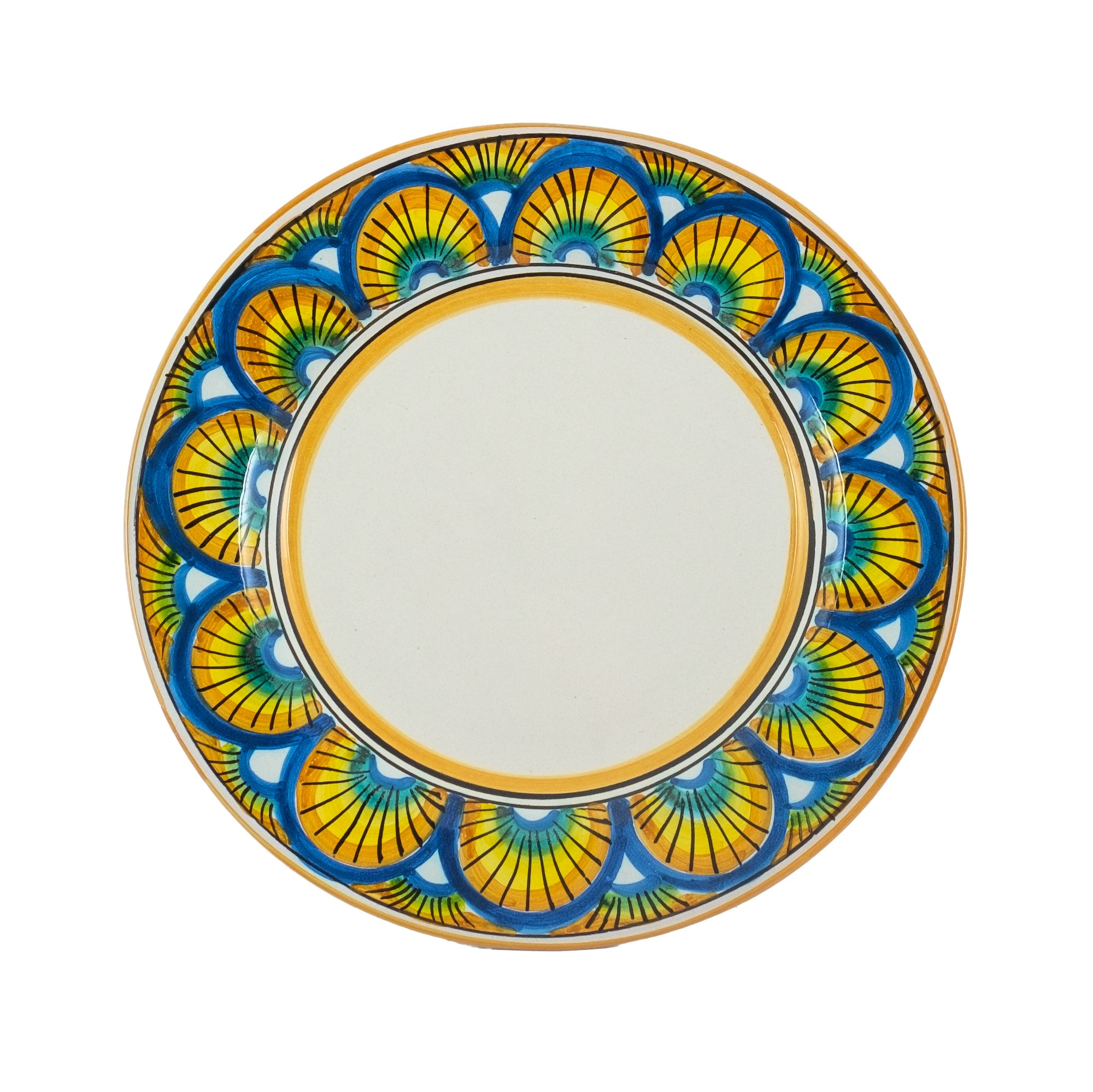 Collections dishes Ego the yellow Montedoro. Caltagirone - Sicilia