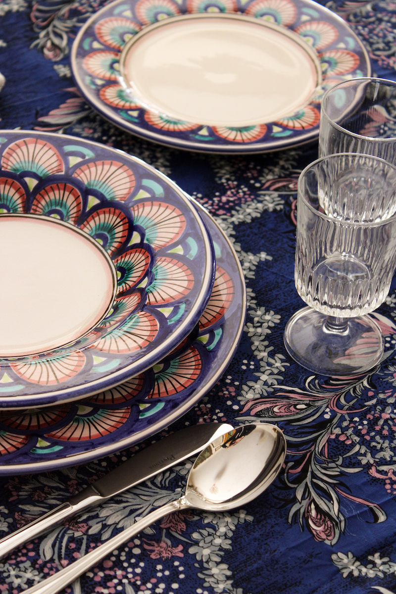Collections dishes Ego the pink of Mozia Caltagirone - Sicilia